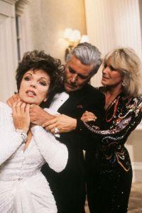 Joan Collins choked