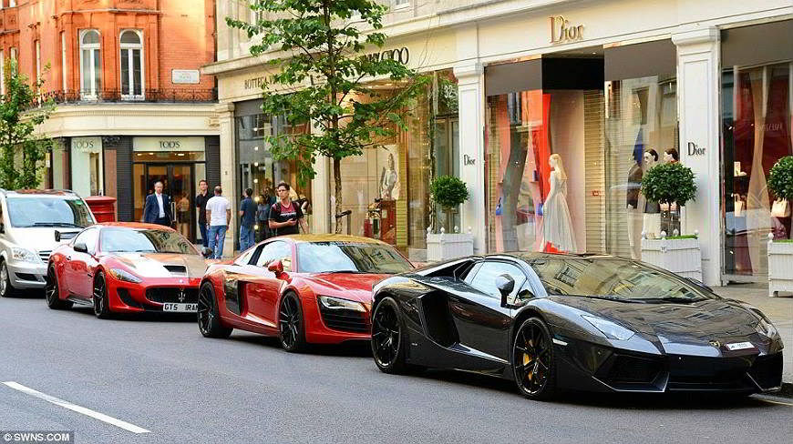 Super Cars Cavalcade in London