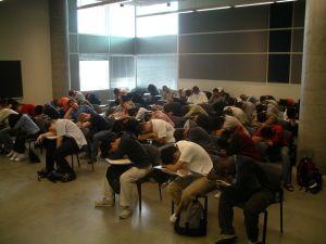 Classroom sleeping