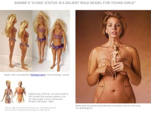 Barbie with human proportions