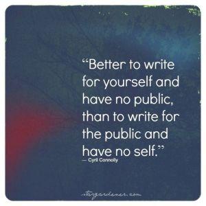 I write for myself