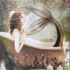 Aquarius Mermaid Bath jigsaw puzzles