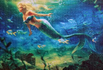 Green Mermaid Jigsaw Puzzles