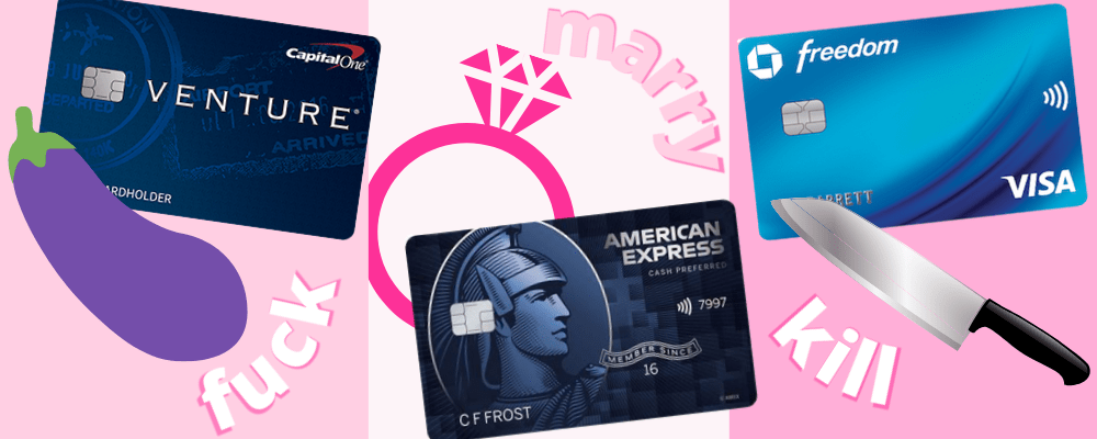 capital one venture card vs amex blue cash preferred vs chase freedom credit card
