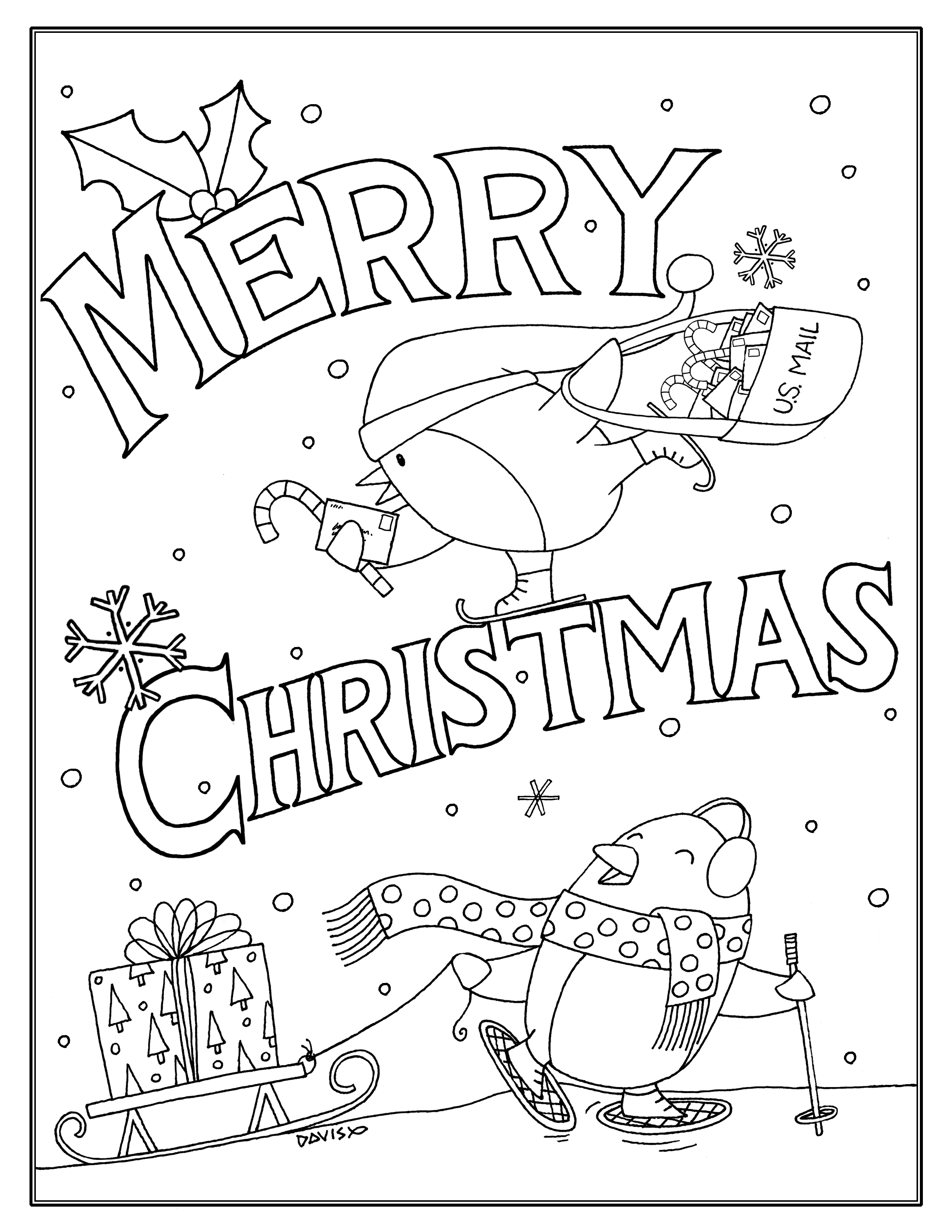 Christmas Coloring Page Download
