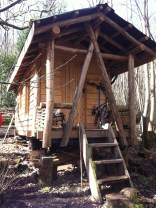 One of the volunteer cabins
