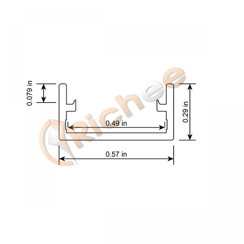 9 16 Deep Flat Slim Led Aluminum Channel