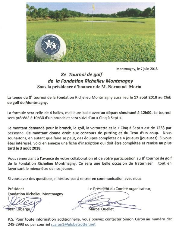 Invitation 8e Tournoi
