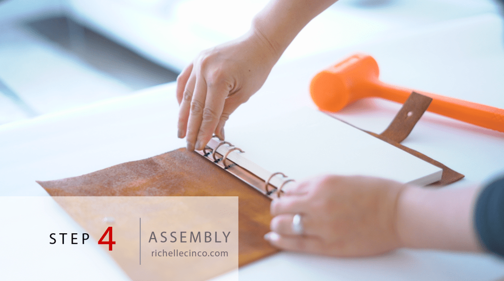Step 4 in Easy DIY Refillable Leather Planner : Assembly - Putting it all together.