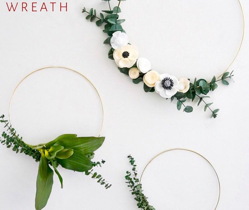 DIY Minimalist Spring Wreath