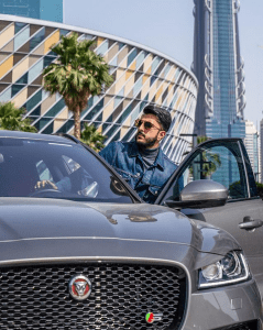 Alii Muhammed with Jaguar
