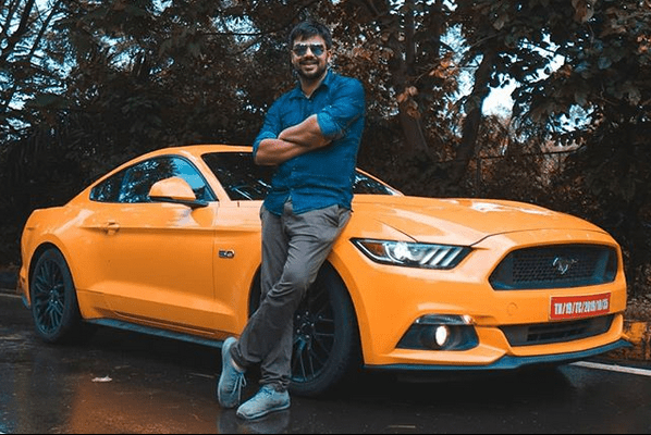 Rachit Hirani with Mustang GT