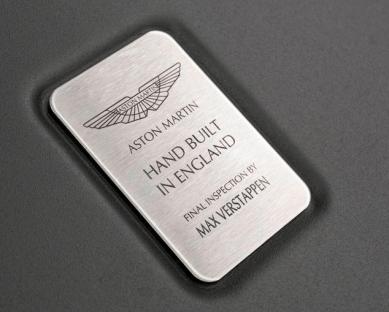 Aston Martin AM-RB 001 inspection Max Verstappen