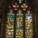 Stained glass window in the Philadelphia Museum.