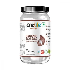 Onelife Organic Wet Milled Cold Pressed Virgin Coconut Oil For Skin and Hair Edible 175ml  coconut oil 175 ml