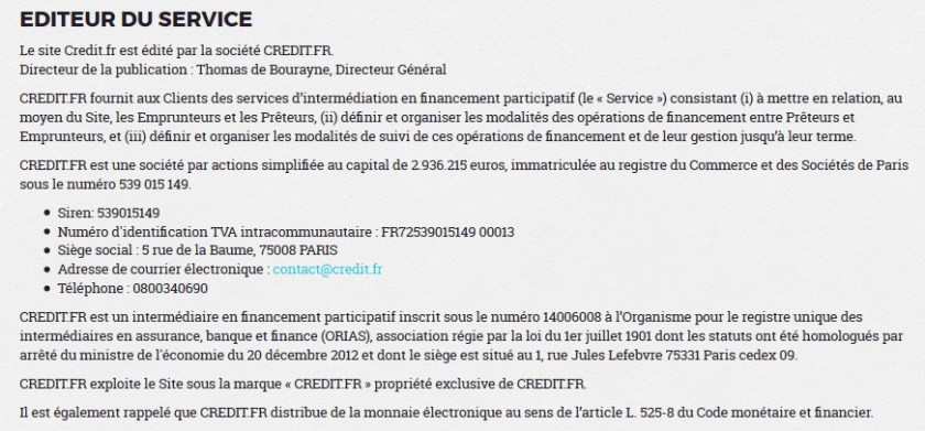 credit.fr crowdfunding investment 11 capital investment