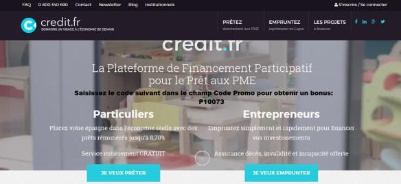 credit.fr coupon bonus code