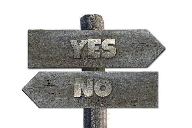 Panel yes no