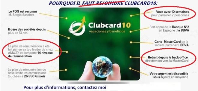 Club card 10 scam