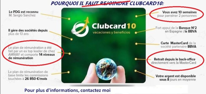 Estafa de tarjeta 10 Club