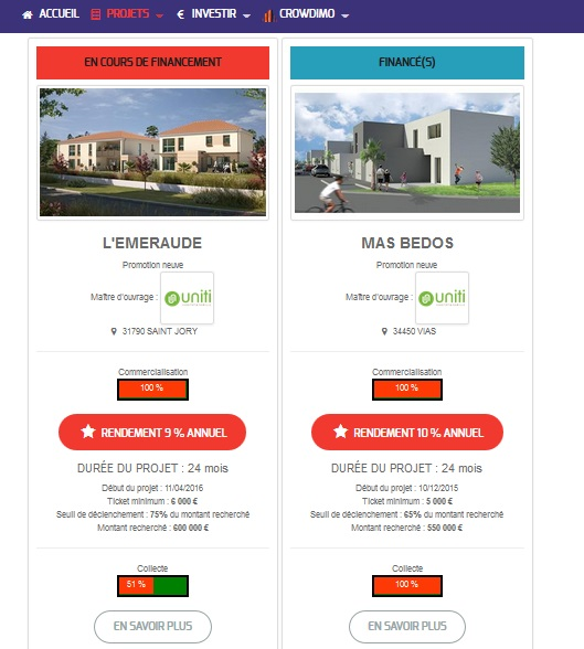 crowdimo test and notice real estate investment new platform project