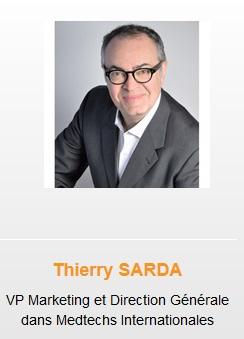 hoolders Thierry SARDA VP Marketing and general management in Medtechs international