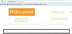 hoolders investissement crowdfunding innovation co-investissement 16 club