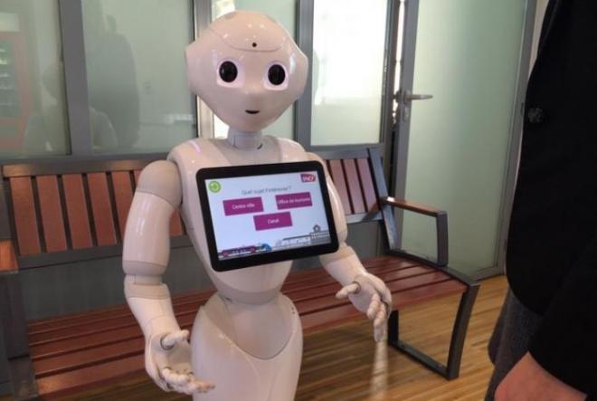 Desde finales del año 2015, la SNCF experimentado con robots de pimienta en tres estaciones (Saumur, Sables d ' Olonne, Nort-sur-Erdre) para informar a los pasajeros o para mantenerlos entretenidos en caso de espera grande.