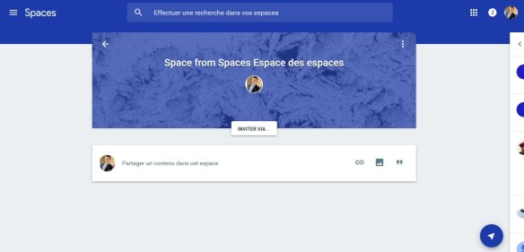Google espacios espacios modo enploi