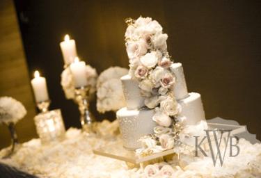Cascade cake decor