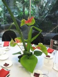 Tropical wedding centerpiece