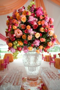 Large rose centerpiece