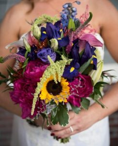 wildflower summer wedding bouquet