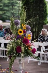 wildflower wedding centerpiece