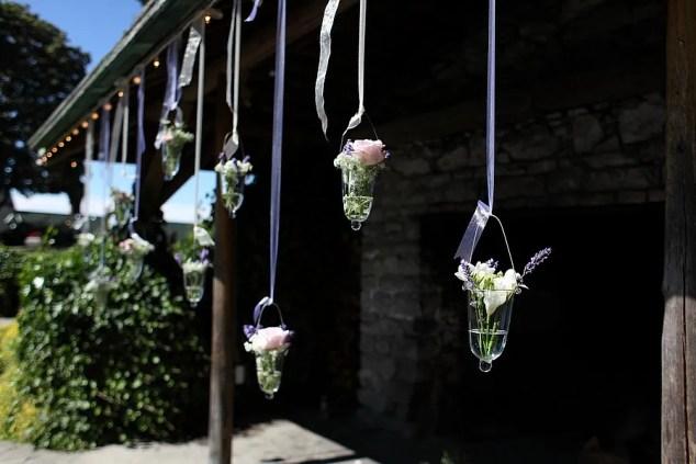 hanging glass vases