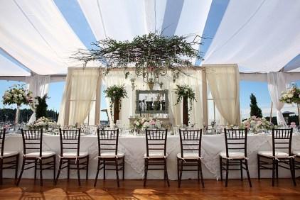 wedding head table decor