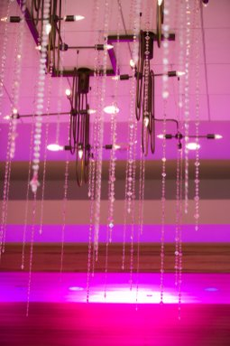 Pink and sparkly ceiling lights