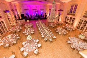 full view of Lafayette Club wedding reception
