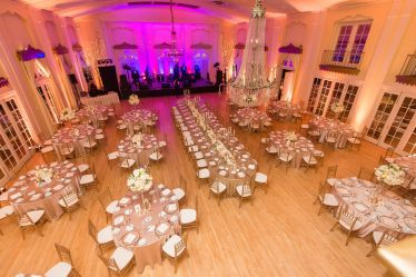 full view of Lafayette Club wedding reception