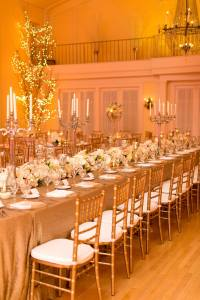 head table decor at wedding reception