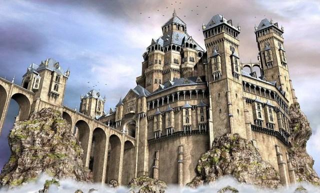 fantasy fortress medieval castle