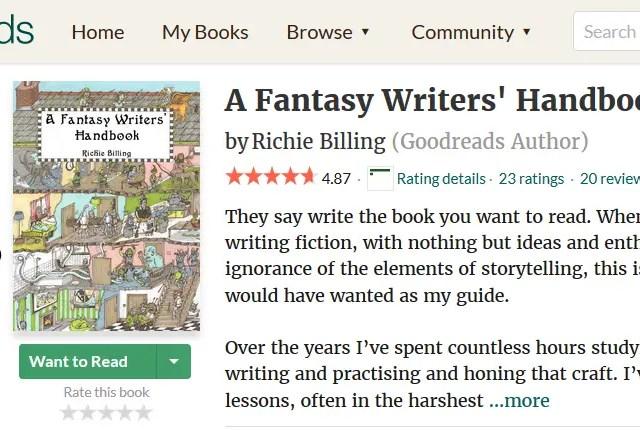 £0.99 Deal: A Fantasy Writers' Handbook