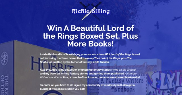 LOTR free book giveaway image