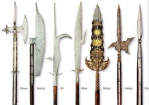 bardiche medieval weapon