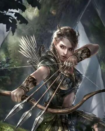 A fantasy archer