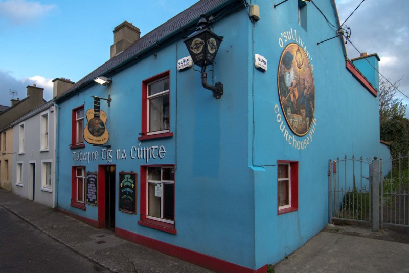A blue pub in Ireland