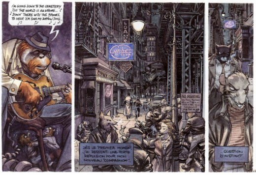 Blacksad comic extract