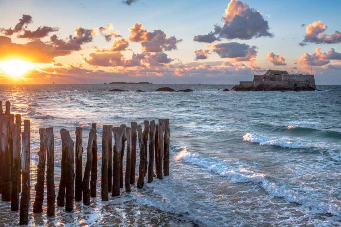 Sunset on St Malo