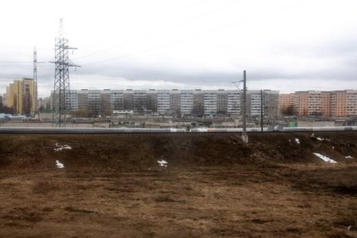 Belarus cityscape, big buildings