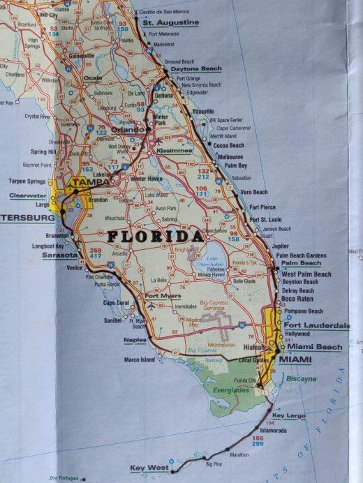 Florida road map